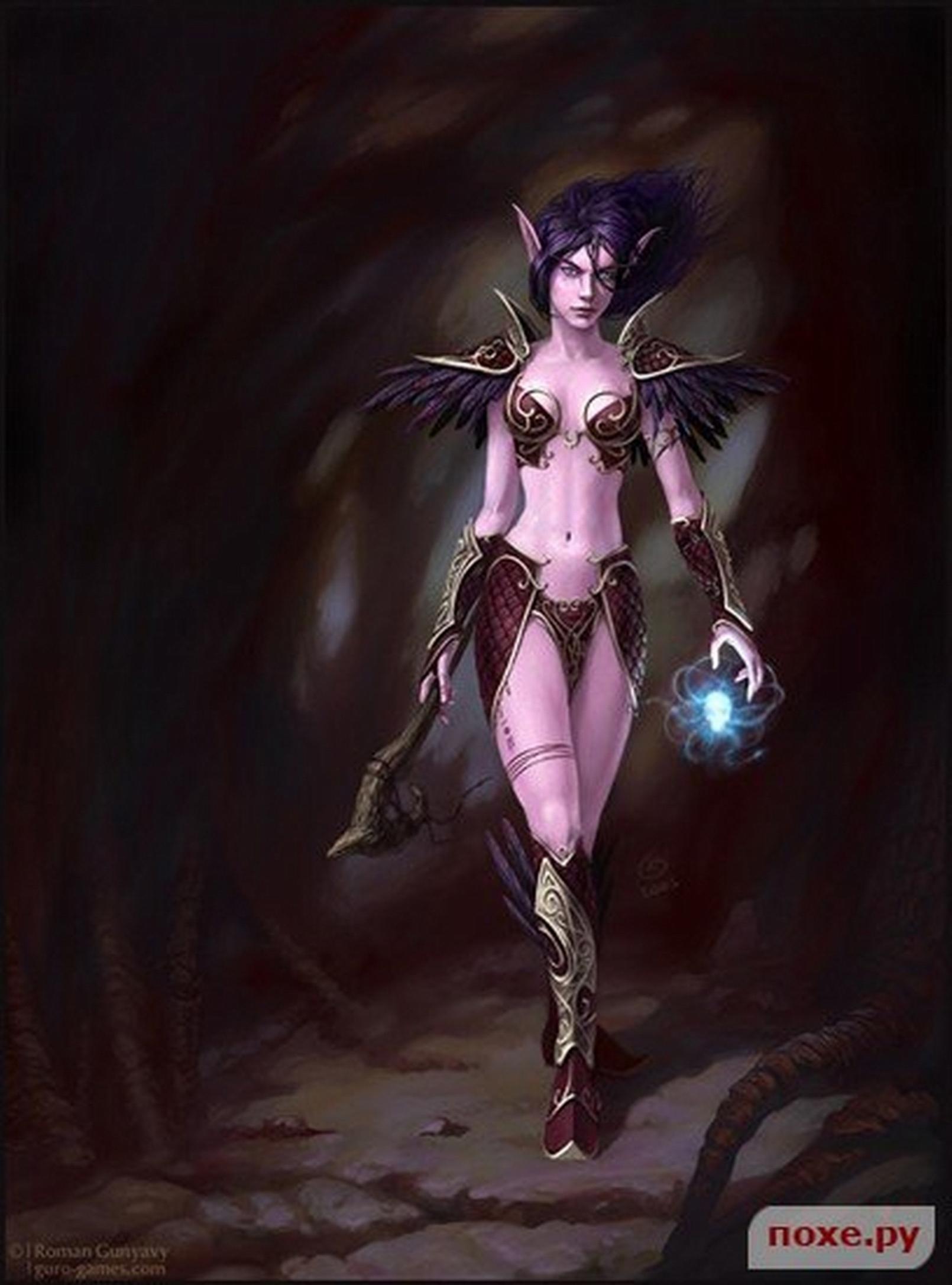 Elf model blood female